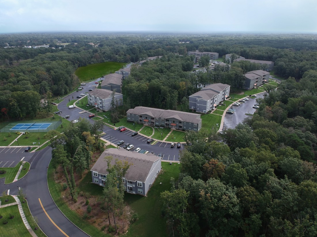 Shopping, Dining, Retail in Berlin, NJ | Taylor Woods Apartments - TaylorWoodsDrone2_Edited